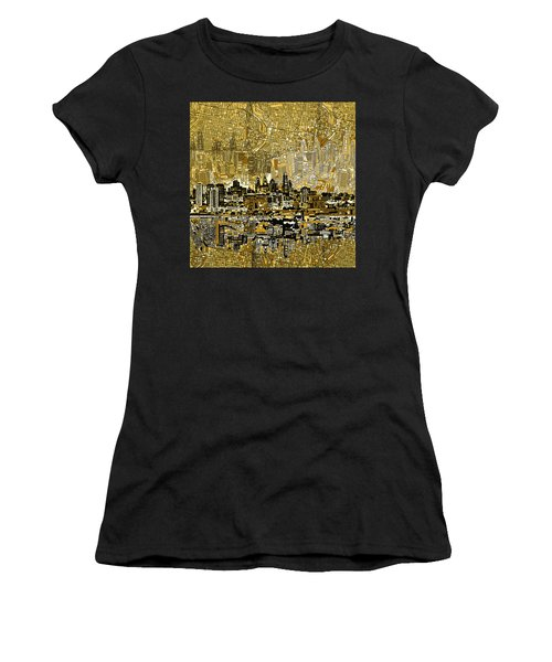 Philadelphia Skyline Abstract 3 Women's T-Shirt (Athletic Fit)