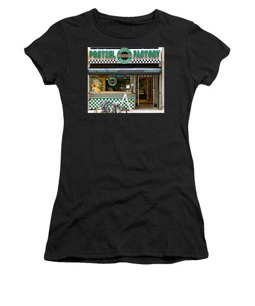 Philly Pretzel Factory Women's T-Shirt (Junior Cut) by Ira Shander