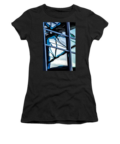 Phoenix Window Reflecting Grids Women's T-Shirt (Athletic Fit)