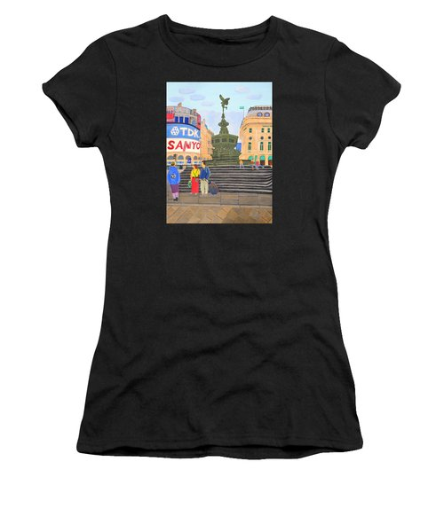 London- Piccadilly Circus Women's T-Shirt (Athletic Fit)