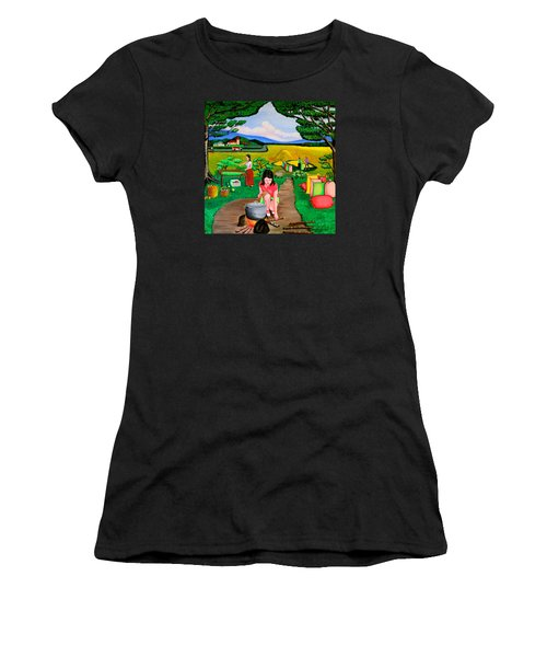 Picnic With The Farmers Women's T-Shirt (Athletic Fit)