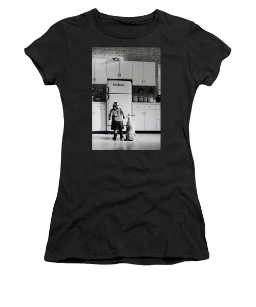 Pie In The Sky In Black And White Women's T-Shirt (Athletic Fit)