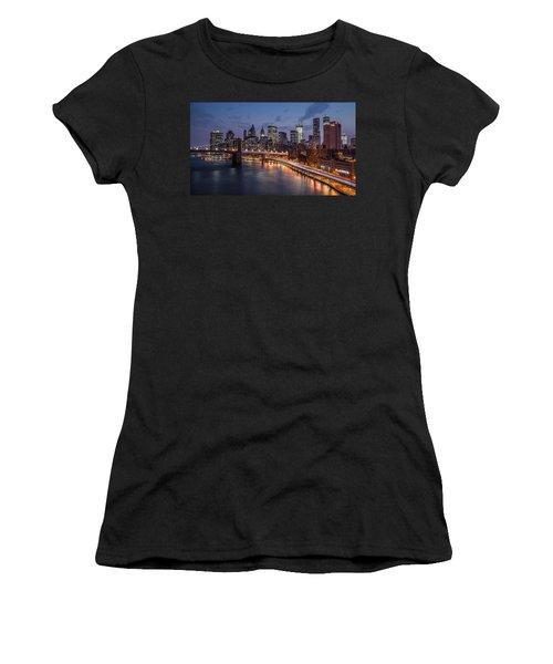 Women's T-Shirt (Junior Cut) featuring the photograph Piercing Manhattan by Mihai Andritoiu
