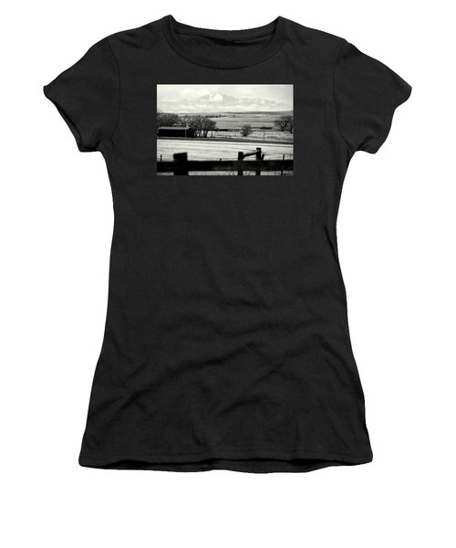 Women's T-Shirt (Junior Cut) featuring the photograph Pikes Peak From Ramah by Clarice  Lakota