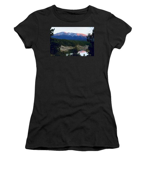Pikes Peak Sunset Women's T-Shirt (Athletic Fit)