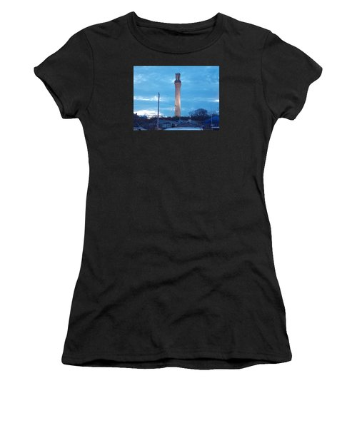 Pilgrim Tower Women's T-Shirt (Athletic Fit)