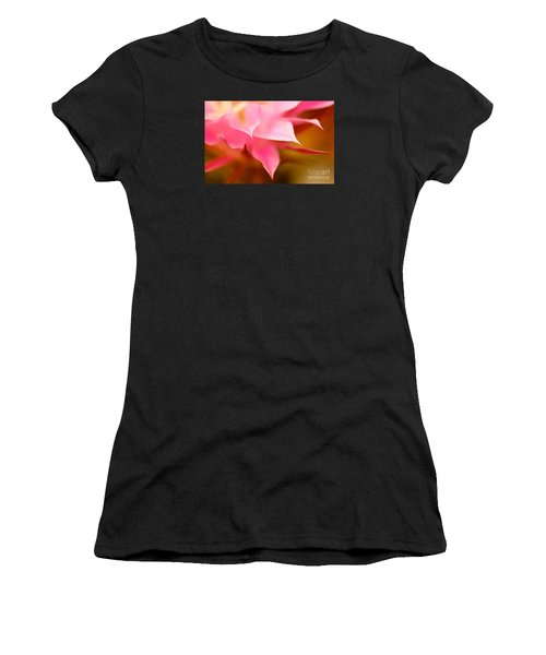 Pink Cactus Flower Abstract Women's T-Shirt (Athletic Fit)