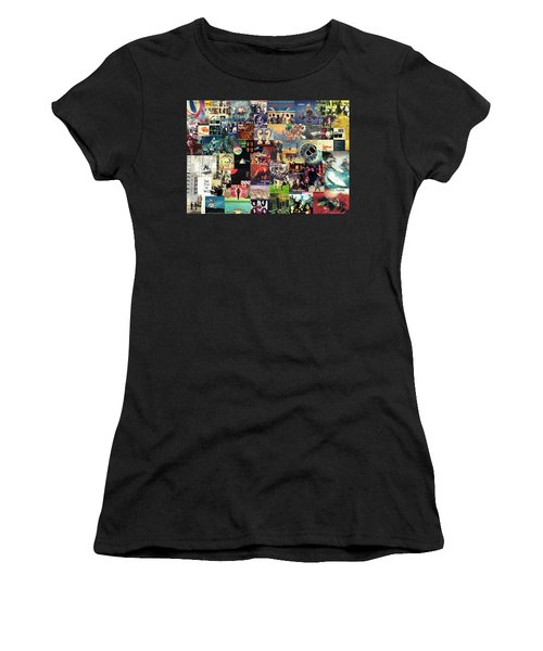 Pink Floyd Collage II Women's T-Shirt (Athletic Fit)