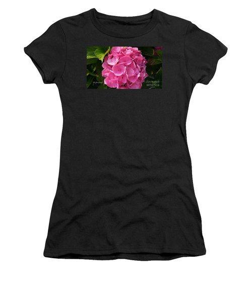 Women's T-Shirt (Junior Cut) featuring the photograph Blushing Rose by Jeannie Rhode