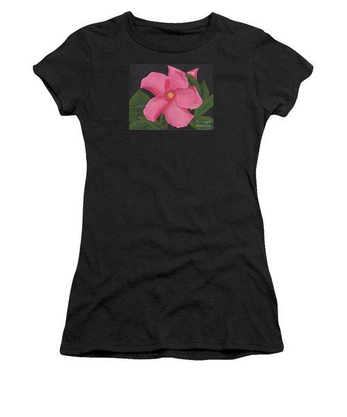 Pink Mandevilla Women's T-Shirt (Junior Cut)