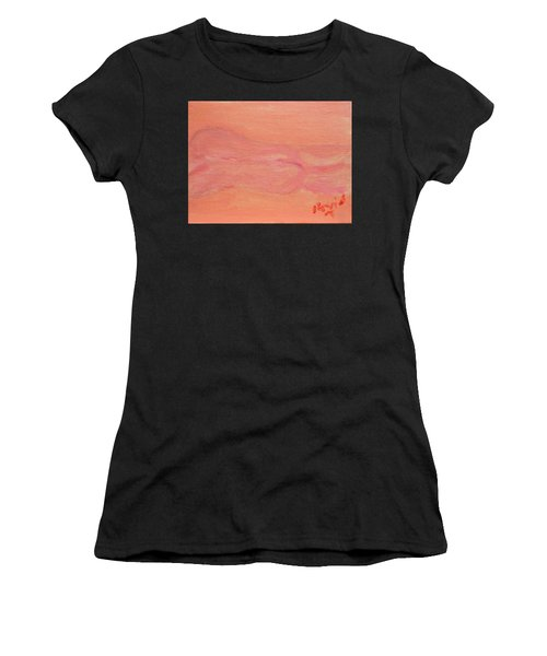 Pink Nude On Orange Women's T-Shirt (Athletic Fit)