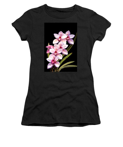 Pink Orchids Women's T-Shirt (Athletic Fit)