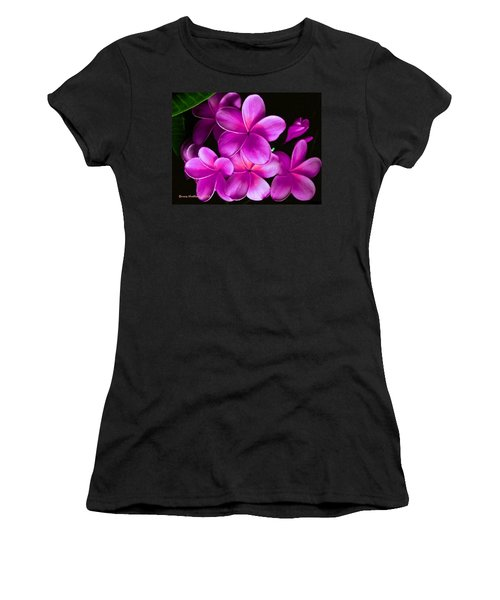 Pink Plumeria Women's T-Shirt (Junior Cut) by Bruce Nutting