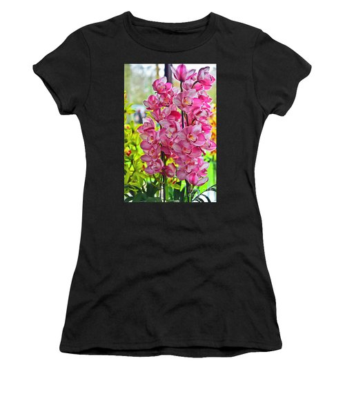 Pink Shadows Women's T-Shirt (Athletic Fit)