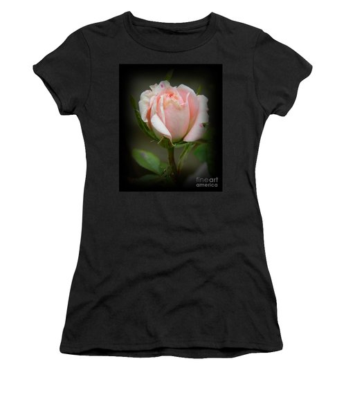 Pink Tea Rose Women's T-Shirt (Athletic Fit)