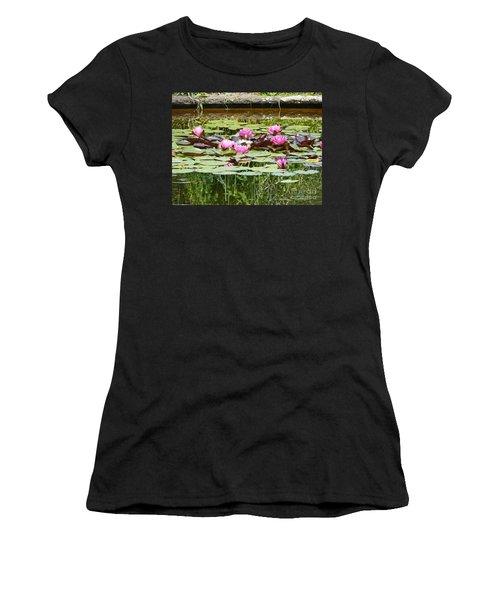 Pink Water Lilies Women's T-Shirt