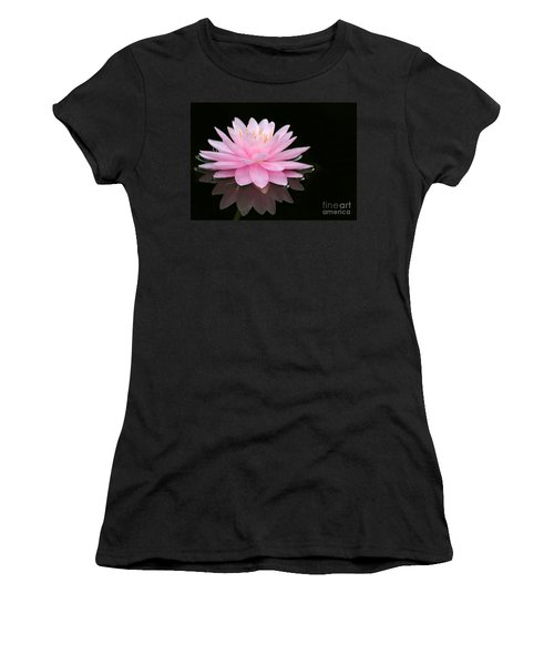 Pink Water Lily In A Dark Pond Women's T-Shirt
