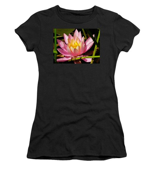 Pink Water Lily Women's T-Shirt (Junior Cut) by Sherman Perry