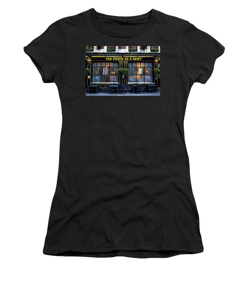 Pissed As A Newt Pub  Women's T-Shirt (Junior Cut) by David Pyatt