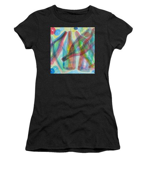 Plaid Wine Women's T-Shirt (Athletic Fit)