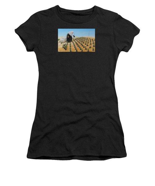 Planting Flowers Women's T-Shirt (Athletic Fit)