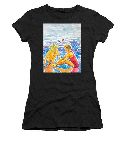 Playing On The Beach Women's T-Shirt