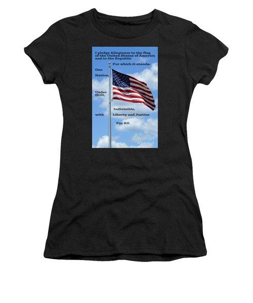 Pledge Of Allegiance Women's T-Shirt (Athletic Fit)