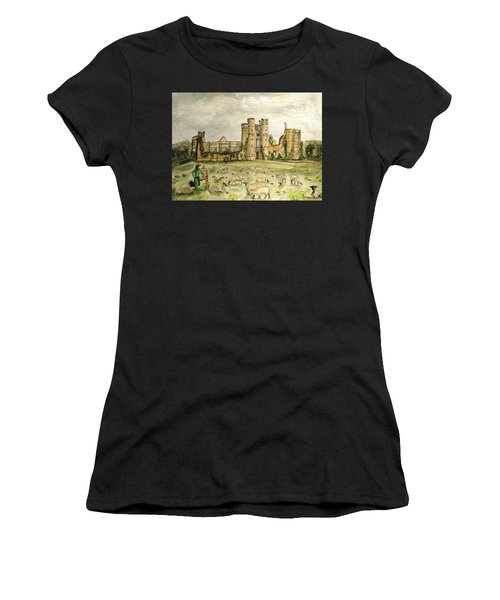 Plein Air Painting At Cowdray House Sussex Women's T-Shirt