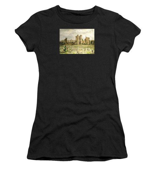 Plein Air Painting At Cowdray House Sussex Women's T-Shirt (Athletic Fit)