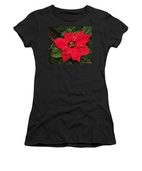 Poinsettia - Frozen In Time Women's T-Shirt