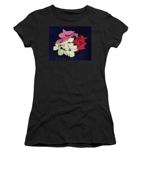Poinsettia Tricolor Women's T-Shirt (Athletic Fit)