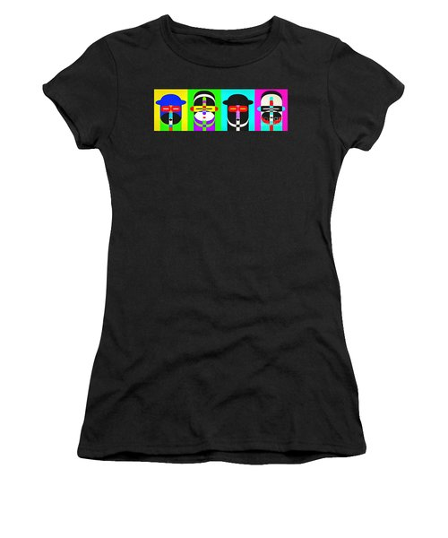 Pop Art People 4 Row Women's T-Shirt