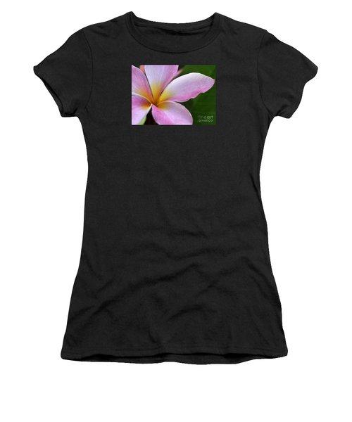 Pop Of Pink Plumeria Women's T-Shirt