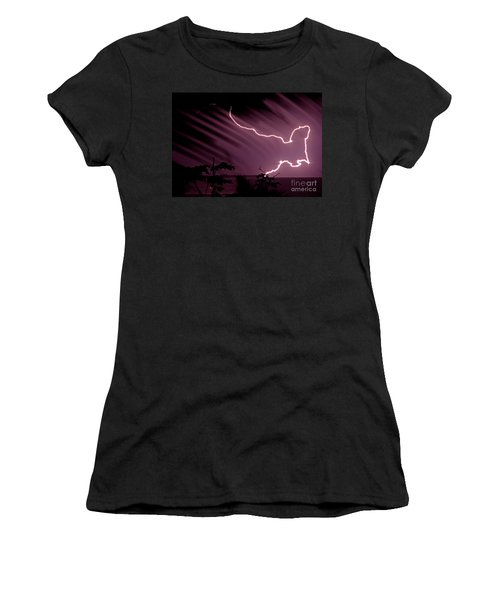 Popa Island Lightning Women's T-Shirt (Athletic Fit)