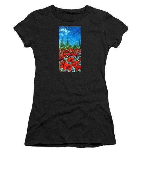 Poppie Field Women's T-Shirt (Athletic Fit)
