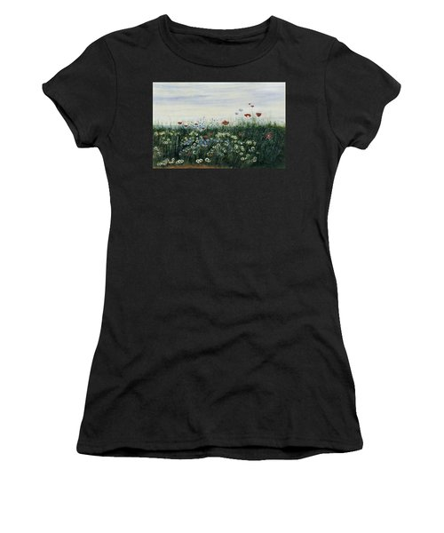Poppies, Daisies And Other Flowers Women's T-Shirt