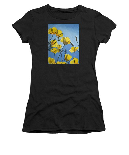 Poppies In The Sun Women's T-Shirt (Athletic Fit)