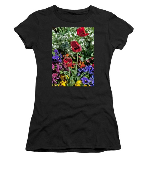 Women's T-Shirt featuring the photograph Poppies by Mae Wertz