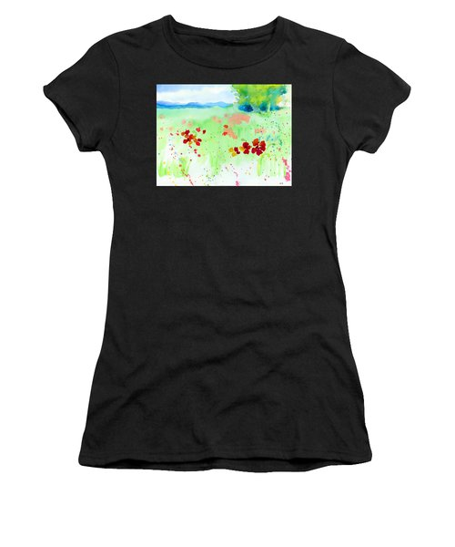 Poppy Passion Women's T-Shirt (Junior Cut) by C Sitton