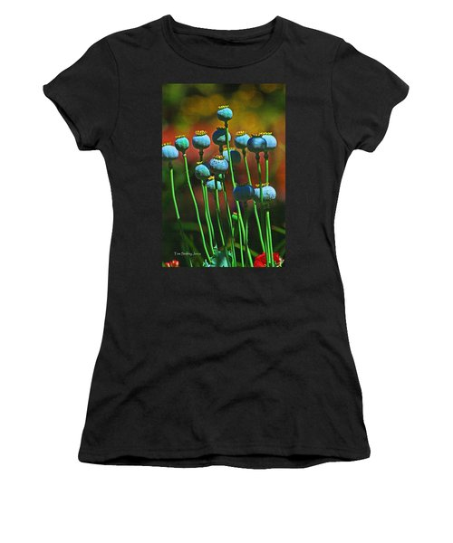 Poppy Seed Pods Women's T-Shirt (Athletic Fit)
