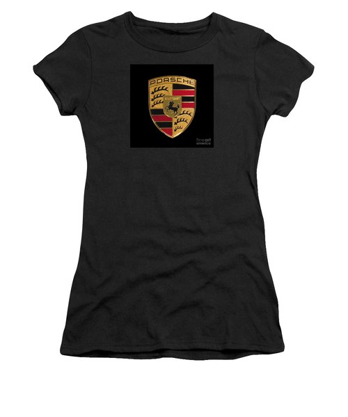 Porsche Emblem - Black Women's T-Shirt (Athletic Fit)
