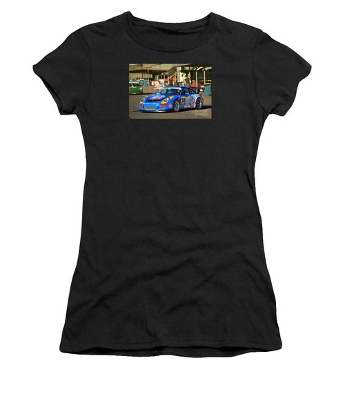 Porsche In The Pits Women's T-Shirt (Athletic Fit)