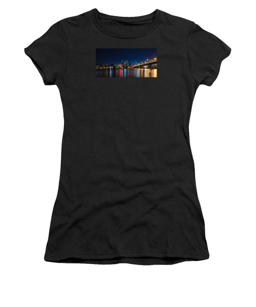 Portland Oregon Nightscape Women's T-Shirt (Athletic Fit)