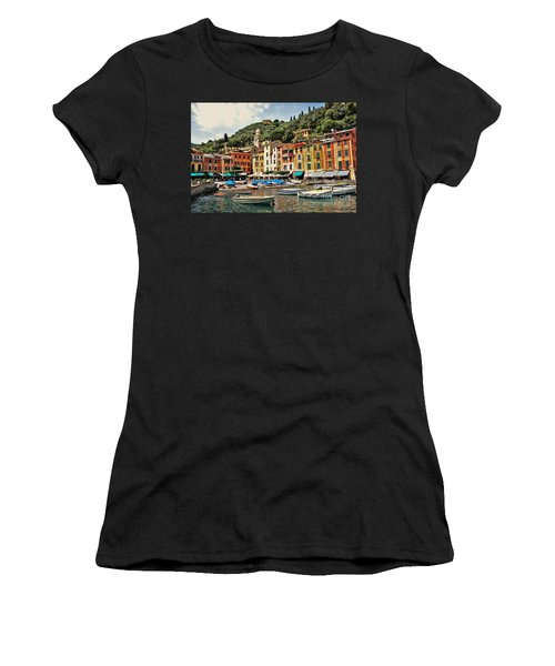 Portofino Harbor 2 Women's T-Shirt (Athletic Fit)