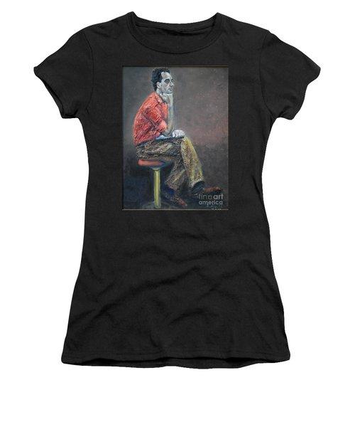 Portrait Of Ali Akrei - The Painter Women's T-Shirt