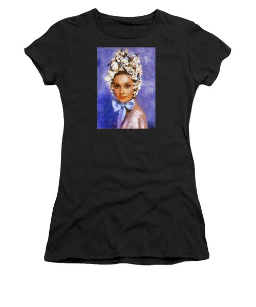 Portrait Of Audrey Hepburn Women's T-Shirt