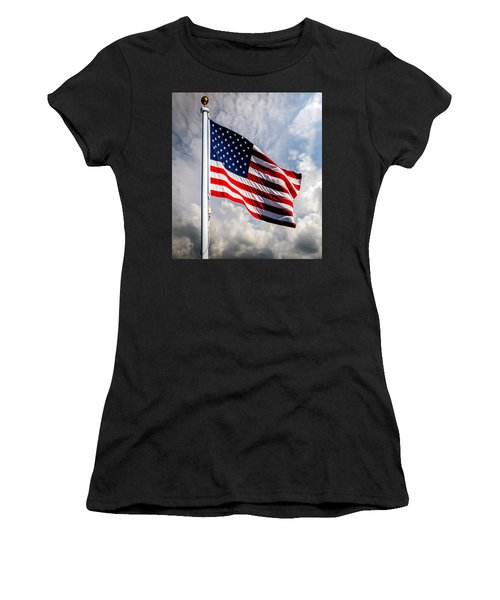 Portrait Of The United States Of America Flag Women's T-Shirt