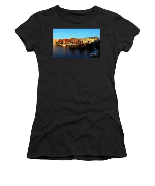Portsmouth In The Afternoon Women's T-Shirt (Junior Cut) by Kevin Fortier