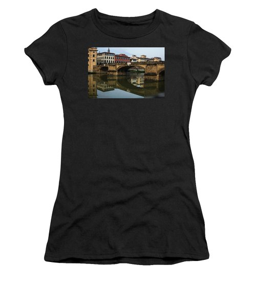 Women's T-Shirt (Junior Cut) featuring the photograph Postcard From Florence  by Georgia Mizuleva