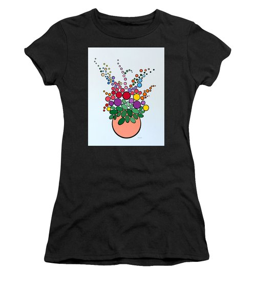 Potted Blooms - Orange Women's T-Shirt (Athletic Fit)